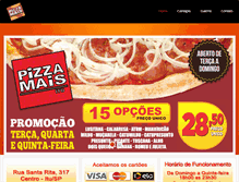 Tablet Preview of pizzamaisitu.com.br